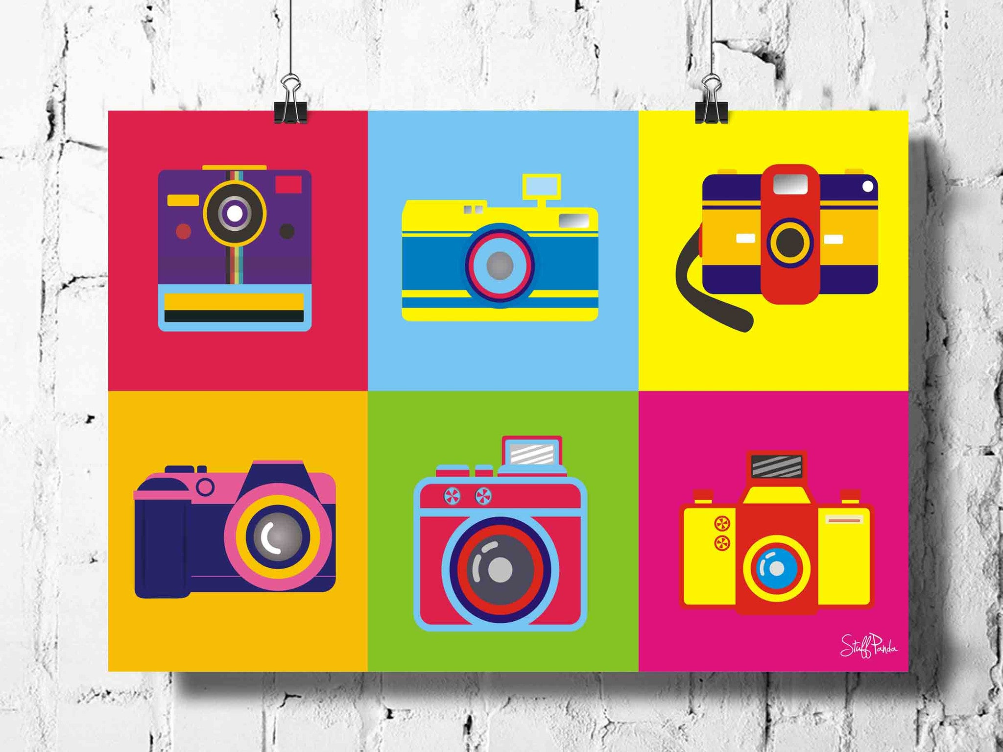 Cool Funky Abstract Retro Cameras wall posters, art prints, stickers decals - stuffpanda - 1