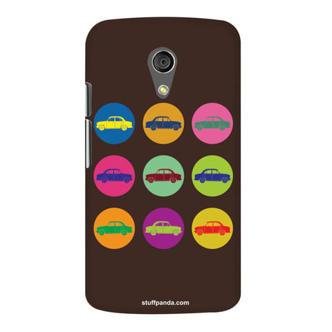 Designer Cool funky Fiat Mini Circles hard back cover / case for Moto G2