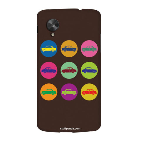 Designer Cool funky Fiat Mini Circles hard back cover / case for Nexus 5