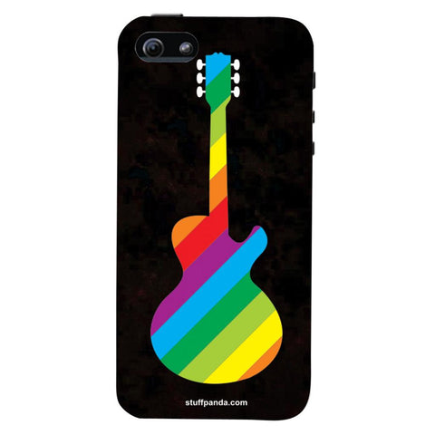 Designer Cool funky Guitar Colourful hard back cover / case for Iphone 5 / 5s