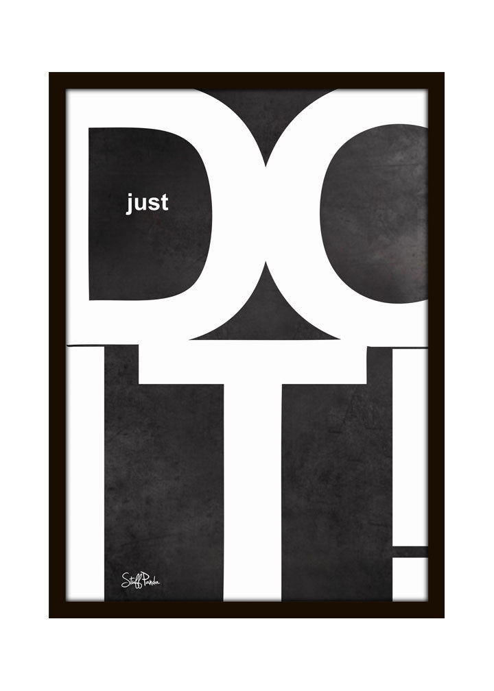 Cool Funky Motivational DO IT Glass frame posters Wall art - stuffpanda - 1