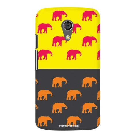 Designer Cool funky Elephant hard back cover / case for Moto G2