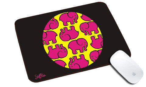 Cool design Abstract Ethnic Circle Elephant natural rubber mouse pad - stuffpanda