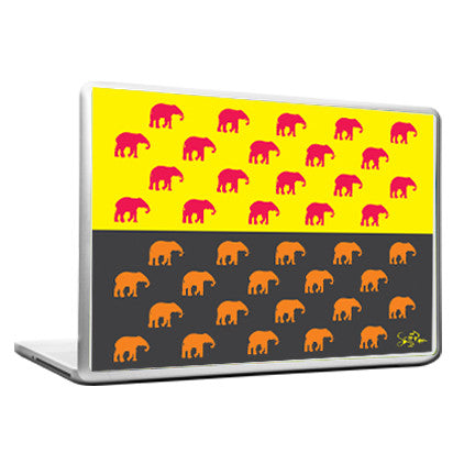 Cool Abstract ethnic Elephants many Laptop cover skin vinyl decals