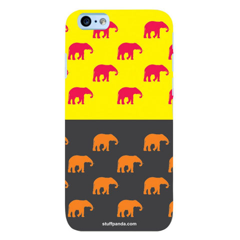 Designer Cool funky Elephant hard back cover / case for Iphone 6