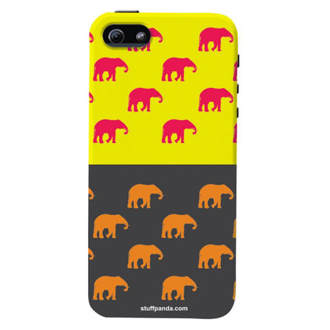 Designer Cool funky Elephant hard back cover / case for Iphone 5 / 5s