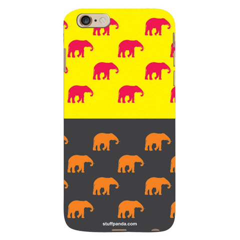 Designer Cool funky Elephant hard back cover / case for Iphone 6 plus