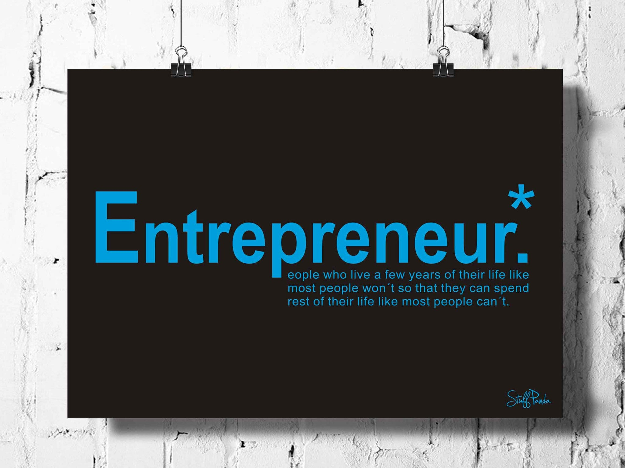 Cool Funky Motivational Business Entrepreneur wall posters art prints stickers decals B n blue  sc 1 st  stuffpanda & Cool Funky Motivational Business Entrepreneur wall posters art ...