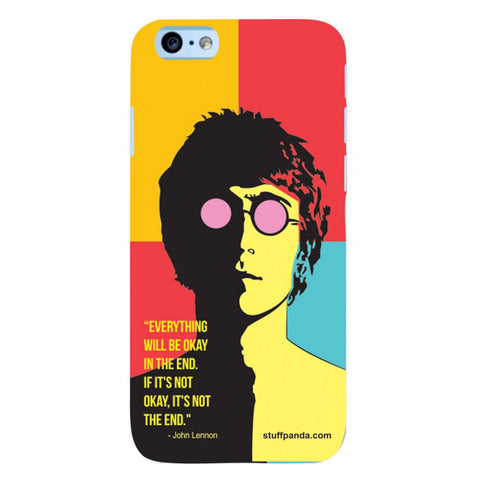 Designer Cool funky Everything Will Be Ok hard back cover / case for Iphone 6