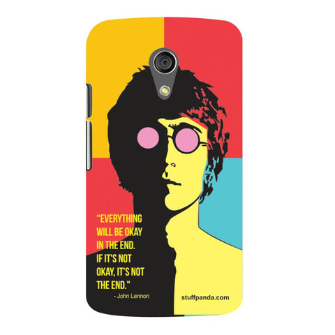 Designer Cool funky Everything Will Be Ok hard back cover / case for Moto G2
