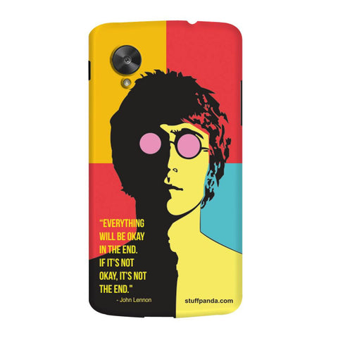 Designer Cool funky Everything Will Be Ok hard back cover / case for Nexus 5