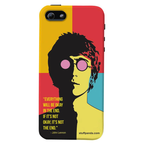 Designer Cool funky Everything Will Be Ok hard back cover / case for Iphone 5 / 5s