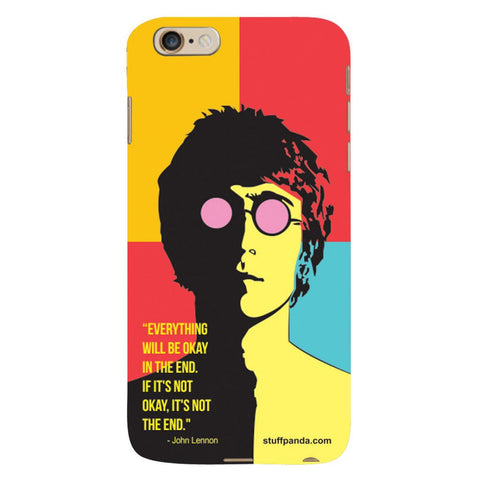 Designer Cool funky Everything Will Be Ok hard back cover / case for Iphone 6 plus