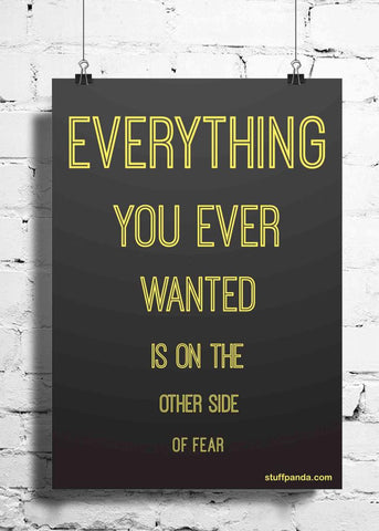 Cool Abstract Motivation Everything you ever wanted wall posters, art prints, stickers decals