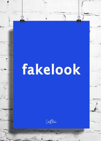 Cool Abstract funny facebook Fakelook wall posters, art prints, stickers decals