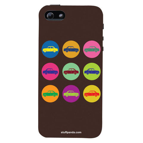 Designer Cool funky Fiat Mini Circuls hard back cover / case for Iphone 5 / 5s