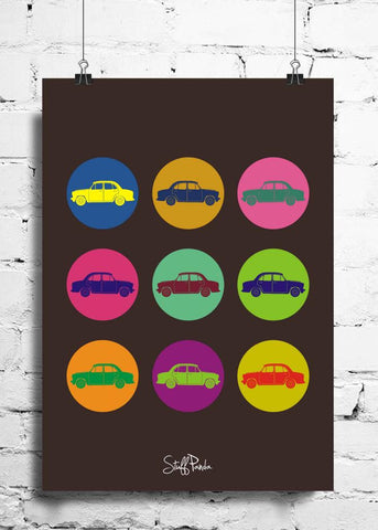 Cool Abstract Funny Amby In Circles wall posters, art prints, stickers decals
