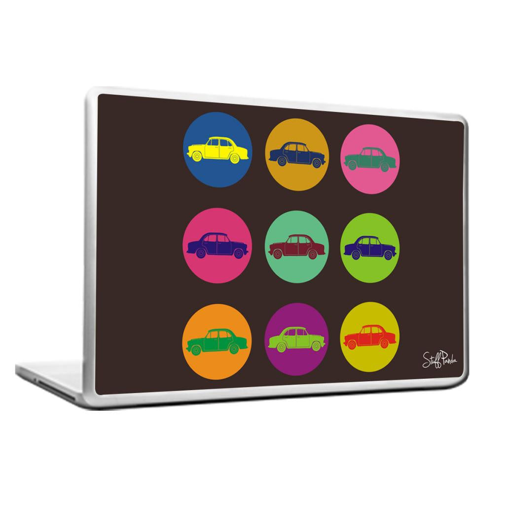 Cool Abstract Retro Ambassador in Circles Laptop cover skin vinyl decals - stuffpanda - 1