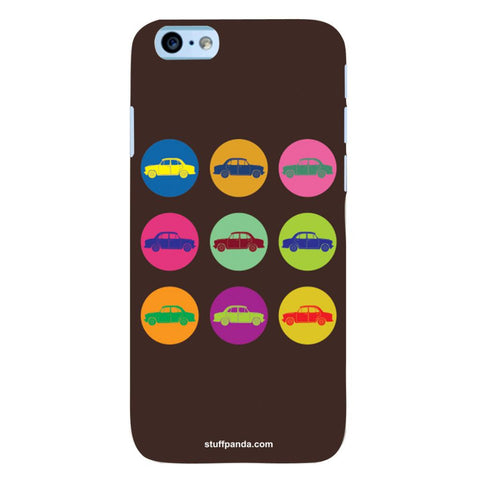 Designer Cool funky Fiat Mini Circles hard back cover / case for Iphone 6