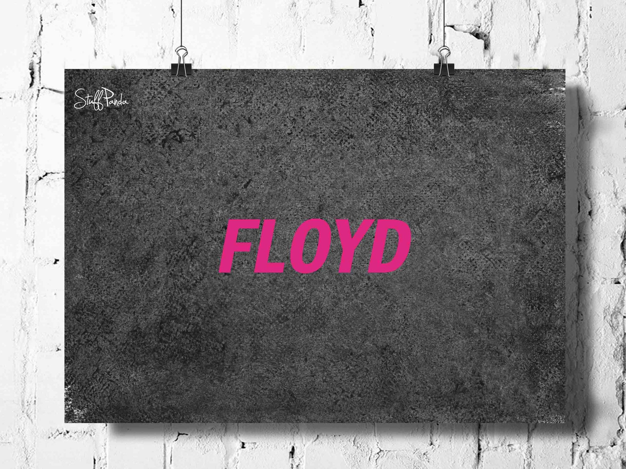 Cool Abstract Music psychedelic Floyd Single word wall posters, art prints, stickers decals - stuffpanda - 1