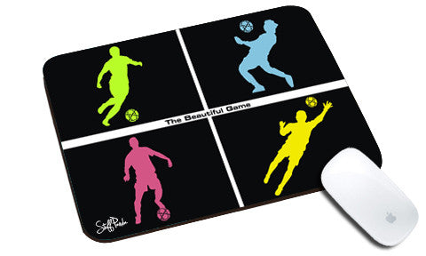 Cool design Soccer football boxes natural rubber mouse pad - stuffpanda