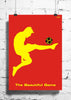 Cool Funky Football The beautiful game wall posters, art prints, stickers decals Red - stuffpanda - 1