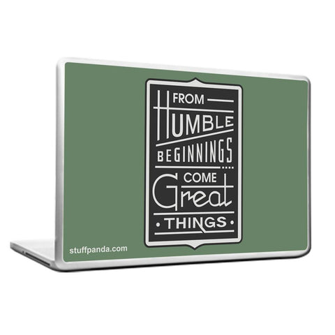 Cool Abstract Motivation From Humble Begining Laptop cover skin vinyl decals