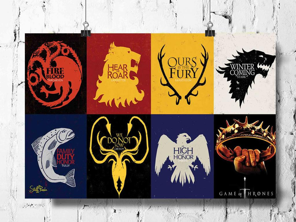 Cool Abstract Game of Thrones Box flags wall posters, art prints, stickers decals - stuffpanda - 1