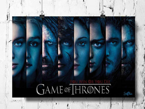 Cool Abstract Game of Thrones All faces wall posters, art prints, stickers decals
