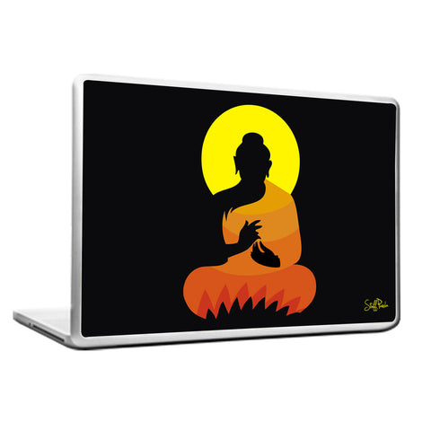 Cool Abstract Ethnic Gautam Buddha Laptop cover skin vinyl decals