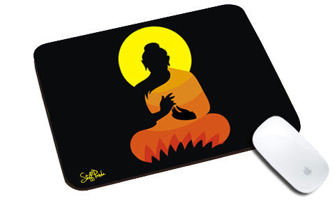 Cool design Abstract Ethnic Gautam Buddha natural rubber mouse pad