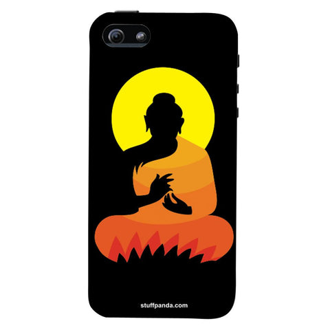 Designer Cool funky Gautam Buddha hard back cover / case for Iphone 5 / 5s