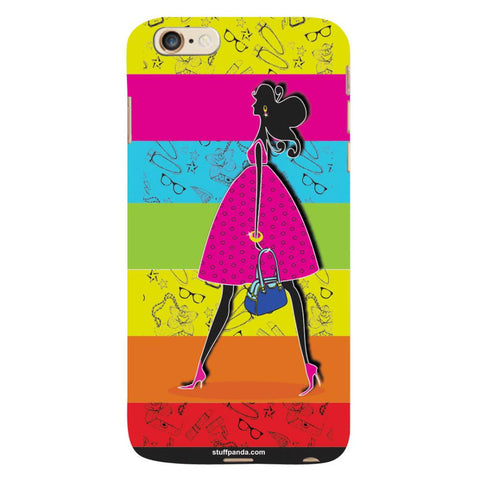 Designer Cool funky Girl Walking hard back cover / case for Iphone 6 plus