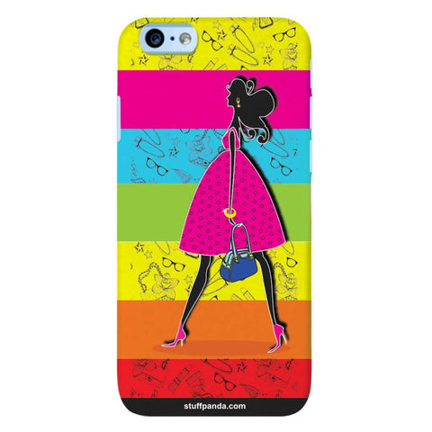 Designer Cool funky Girl Walking hard back cover / case for Iphone 6