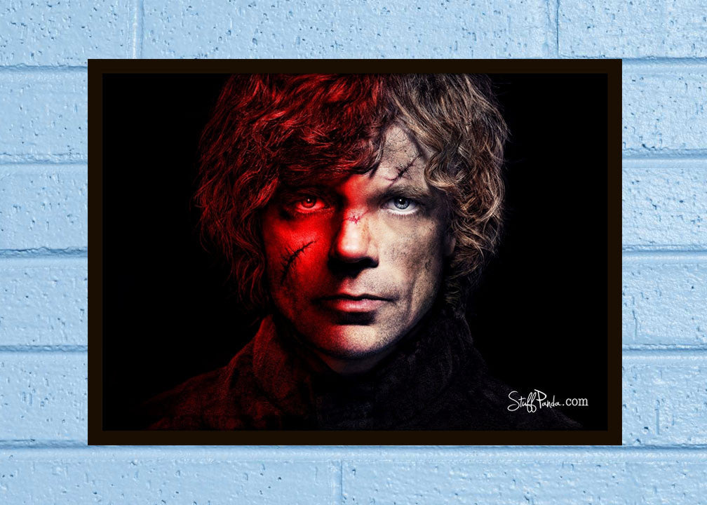 Cool Abstract Game of thrones Tyrion Wall Glass Frame posters Wall art - stuffpanda - 1