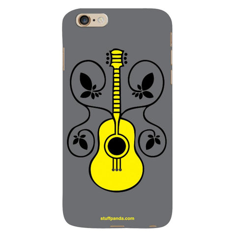 Designer Cool funky Guitar With Flower hard back cover / case for Iphone 6 plus