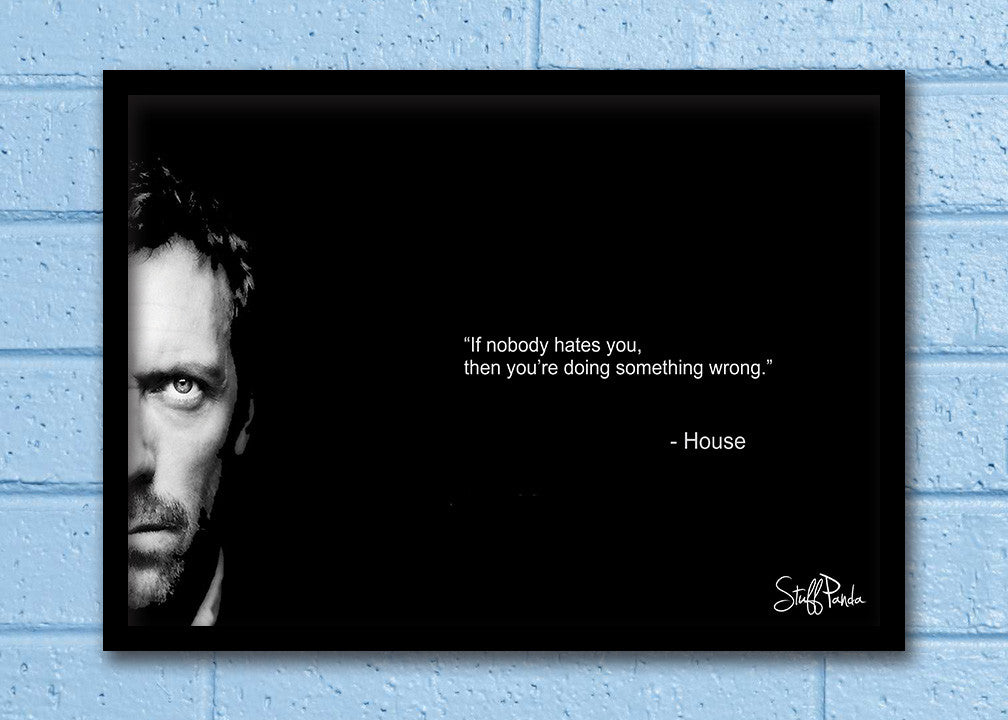 Cool Abstract House MD If nobody hates Glass frame posters Wall art - stuffpanda - 1