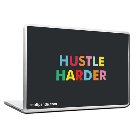Cool Abstract Motivation Hustle Harder Laptop cover skin vinyl decals