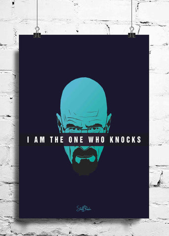 Cool Funky Breaking Bad wall posters, art prints, stickers decals Im the one who