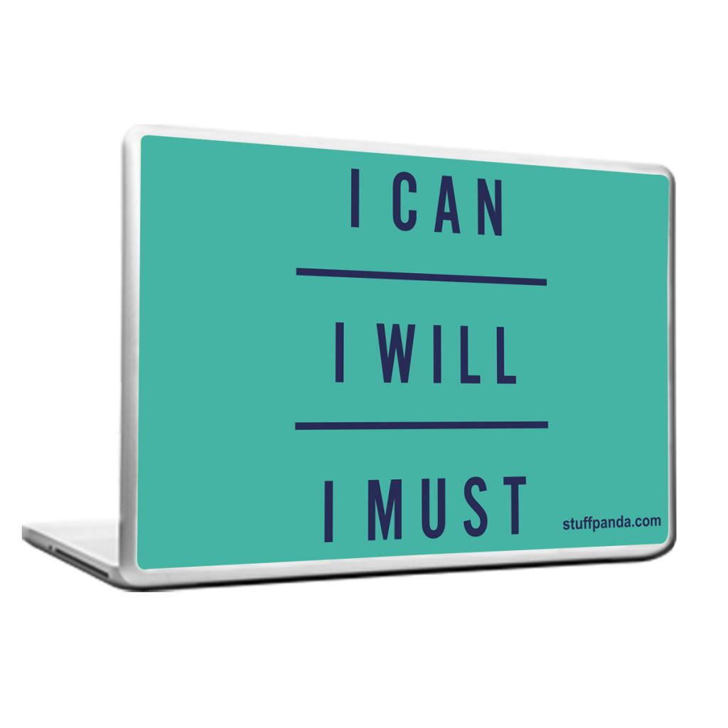 Cool Abstract Inspiring I can I Will Laptop cover skin vinyl decals - stuffpanda - 1