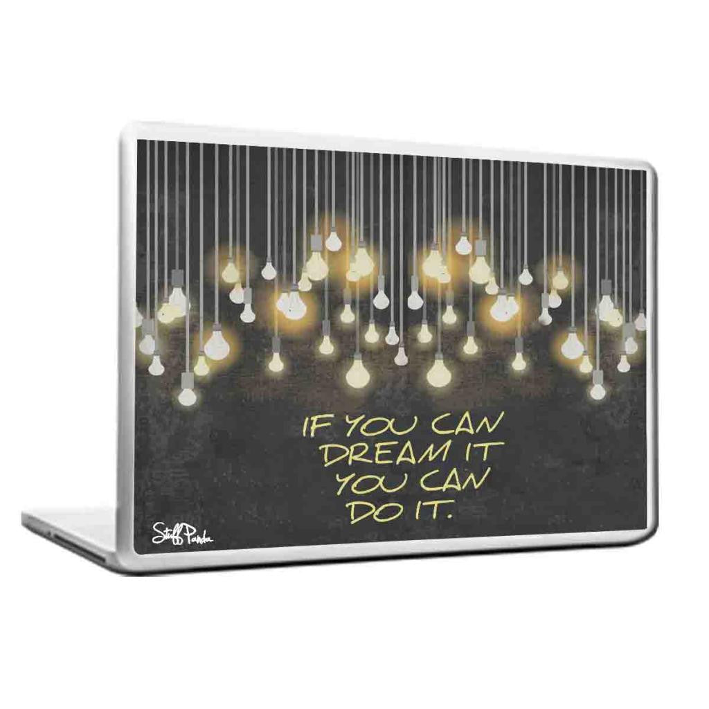 Cool Abstract Motivational If you can dream Laptop cover skin vinyl decals - stuffpanda - 1