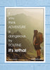 Cool Abstract Motivation If you think adventure Wall Glass Frame posters Wall art - stuffpanda - 1