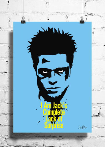 Cool Abstract Motivation Fight Club I m jacks wall posters, art prints, stickers decals