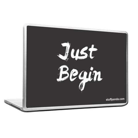 Motivation Just Begin Laptop cover skin vinyl decals