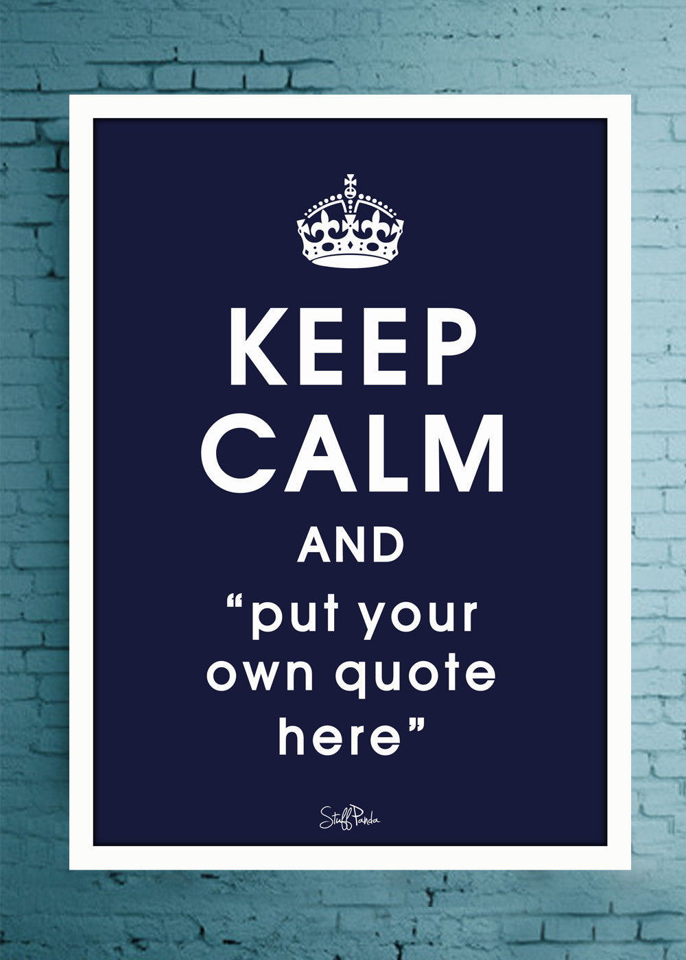 Cool Abstract Customised Keep Calm Wall Glass frame posters Wall art - stuffpanda - 1