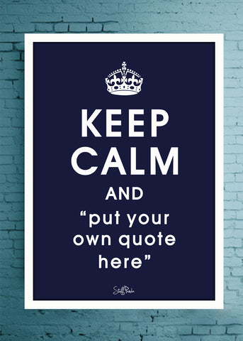 Cool Abstract Customised Keep Calm Wall Glass frame posters Wall art