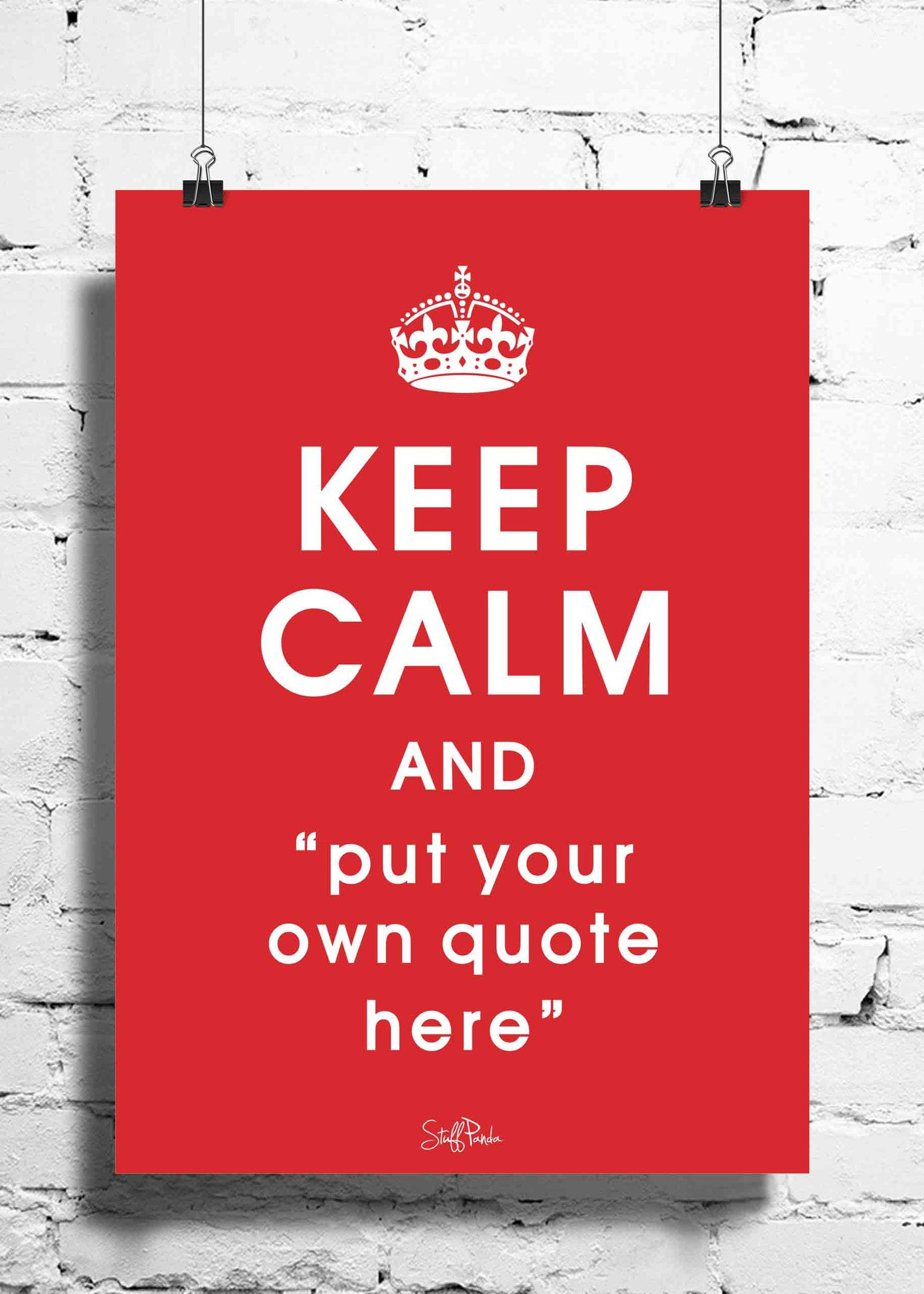 Cool Abstract Customised Keep Calm wall posters, art prints, stickers decals - stuffpanda - 1