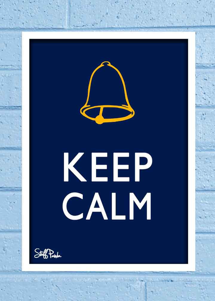 Cool Abstract Funny Ghanta Keep Calm Glass frame posters Wall art - stuffpanda - 1