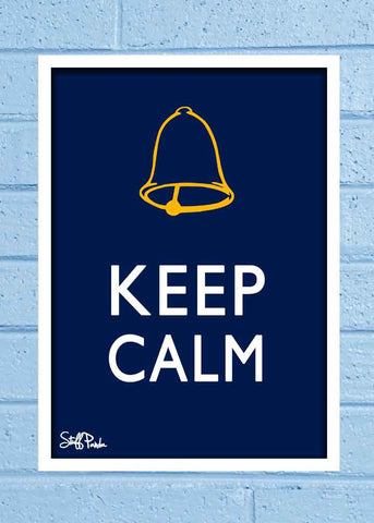 Cool Abstract Funny Ghanta Keep Calm Glass frame posters Wall art