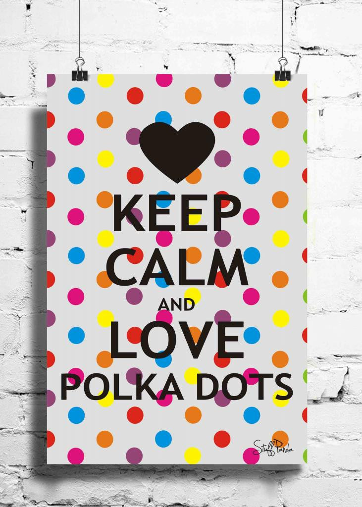 Cool Abstract Motivation Keep calm n love wall posters, art prints, stickers decals - stuffpanda - 1